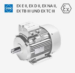 Explosionsgeschützte Motoren von VEM als Ex e II und Ex d II