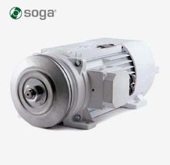 Flachbaumotor 400V von SOGA - Typen: MR71, MR80, MR107